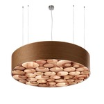 Spiro Solid Fluorescent Pendant -  / Cherry Wood