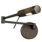 Cleo Right Swing Arm Wall Light - Hand Brushed Old Bronze /