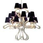 ODE 15 Light Chandelier - Silver / Grape