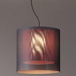 Moare Two Shade Pendant - Black / Grey / Red