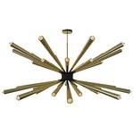 Dorsey Chandelier - Brass