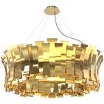 Etta Round Pendant - Gold