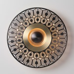 Earth Turtle Wall / Ceiling Light - Satin Brass / Satin Graphite
