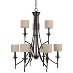 Stirling Incandescent Chandelier - Burnt Sienna / Beige