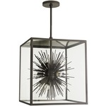 Zanadoo Outdoor Pendant - Aged Iron / Clear