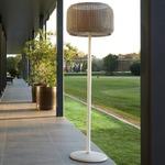 Fora Outdoor Floor Lamp - Natural White / Light Beige Fiber