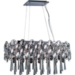 Jewel Linear Pendant - Polished Chrome / Crystal