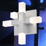 Connetix Sconce - Satin Aluminum / White