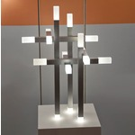 Connetix Table Lamp - Satin Aluminum / White