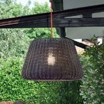 Ralph Outdoor Pendant - Metalized Brown / Clear