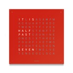 Qlocktwo Large Wall Clock - Red Pepper