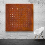 Qlocktwo 180 Wall Clock Special Edition - Rust