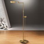 6317 Side Line Dimmer Reading Floor Lamp - Antique Brass /
