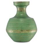 Nallan Vase - Green / Antique Brass