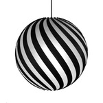 Bounce Pendant Light - Black / Black / White