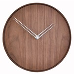 Jazz Wall Clock - Walnut / Polished Steel