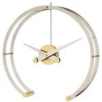 Omega Table Clock - Chrome / Polished Brass / Chrome