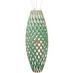 Hinaki Pendant - Bamboo / Natural / Aqua