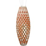 Hinaki Pendant - Bamboo / Natural / Red