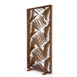 Paisley Standing Screen - Natural Cherry Wood / Natural Cherry Wood