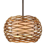 Balboa Drum Pendant - Rattan / Natural