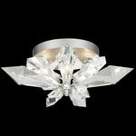 Foret Ceiling Light Fixture - Silver Leaf / Crystal