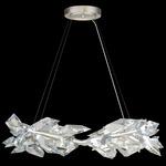 Foret Pendant - Silver Leaf / Crystal