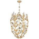 Foret Cage Pendant - Gold Leaf / Crystal
