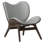 A Conversation Piece Armchair - Dark Oak / Silver Grey