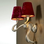 ODE 2 Light Wall Light - Silver / Magenta