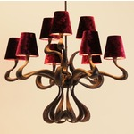 ODE Chandelier - Copper / Raspberry