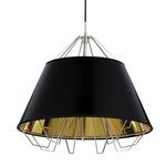 Artic Pendant - Black / Gloss Black/ Gold/ Black Cord