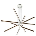 Pix Sticks Tie Stix Wood Suspension with Power - Satin Nickel / Wood Walnut
