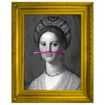 The Pink Pencil Canvas - Gold