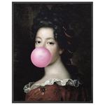 Bubblegum 1 Canvas - Black