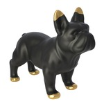 Black Ceramic Bulldog - Black