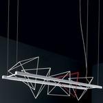 Rock Garden Linear Pendant - Matte White / Opal