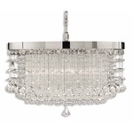 Fascination 3 Light Chandelier - Chrome / Crystal