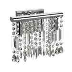 Bohemian Crystal 1 Light Bath Bar - Polished Chrome / Crystal
