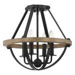 Bartlett Semi Flush Ceiling Light - Earth Black