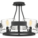 Stratum Semi Flush Ceiling Light - Royal Ebony / Clear