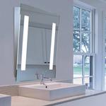 Mirror-Lux LED Angled Mirror - Satin Chrome