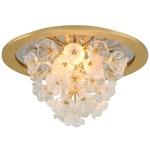 Jasmine Ceiling Light Fixture - Gold Leaf / Clear