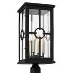 Belleville Outdoor Post Light - Textured Black / Clear