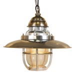 Steamer Deck Lamp Pendant - Brass /