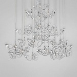 Volare 25 Light Round Chandelier - Chrome /