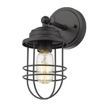 Seaport Wall / Ceiling Light - Black