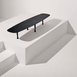 Mesa Unica Long Coffee Table - Black Stained Ash