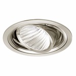 Ardito 3.5IN RD Flanged Adjustable Trim - Satin Nickel / Clear