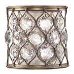 Lucia Wall Light - Burnished Silver / Cream